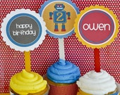 Robot Birthday PRINTABLE Party Circles by Love The Day