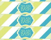 PRINTABLE DRINK LABELS - Splash Bash Pool Party Birthday by Love The Day
