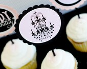 PRINTABLE PARTY CIRCLES - Modern Black & Pink Birthday Party Collection by Love The Day