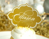 Gold PRINTABLE Custom Name or Food Tags from Love The Day