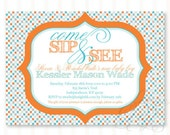 Sip & See Baby Shower PRINTABLE DIY Custom Invitation by Love The Day