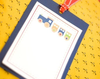 Train Party PRINTABLE Blank Cards (INSTANT DOWNLOADS) from Love The Day