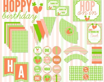 Hoppy Birthday Party PRINTABLE Full Birthday by Love The Day