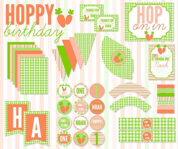 Hoppy Birthday Party PRINTABLE Full Birthday by Love The Day