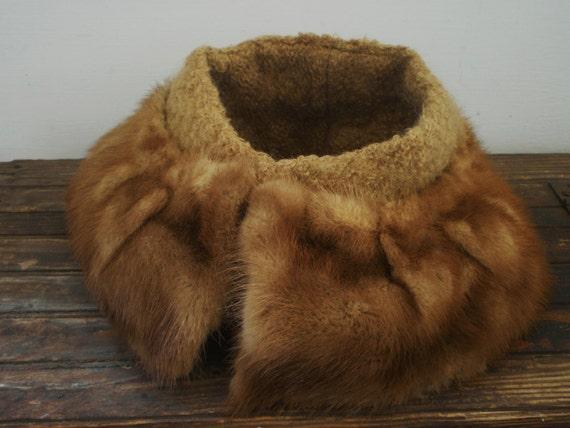 Vintage Fur Cowl Neck Piece