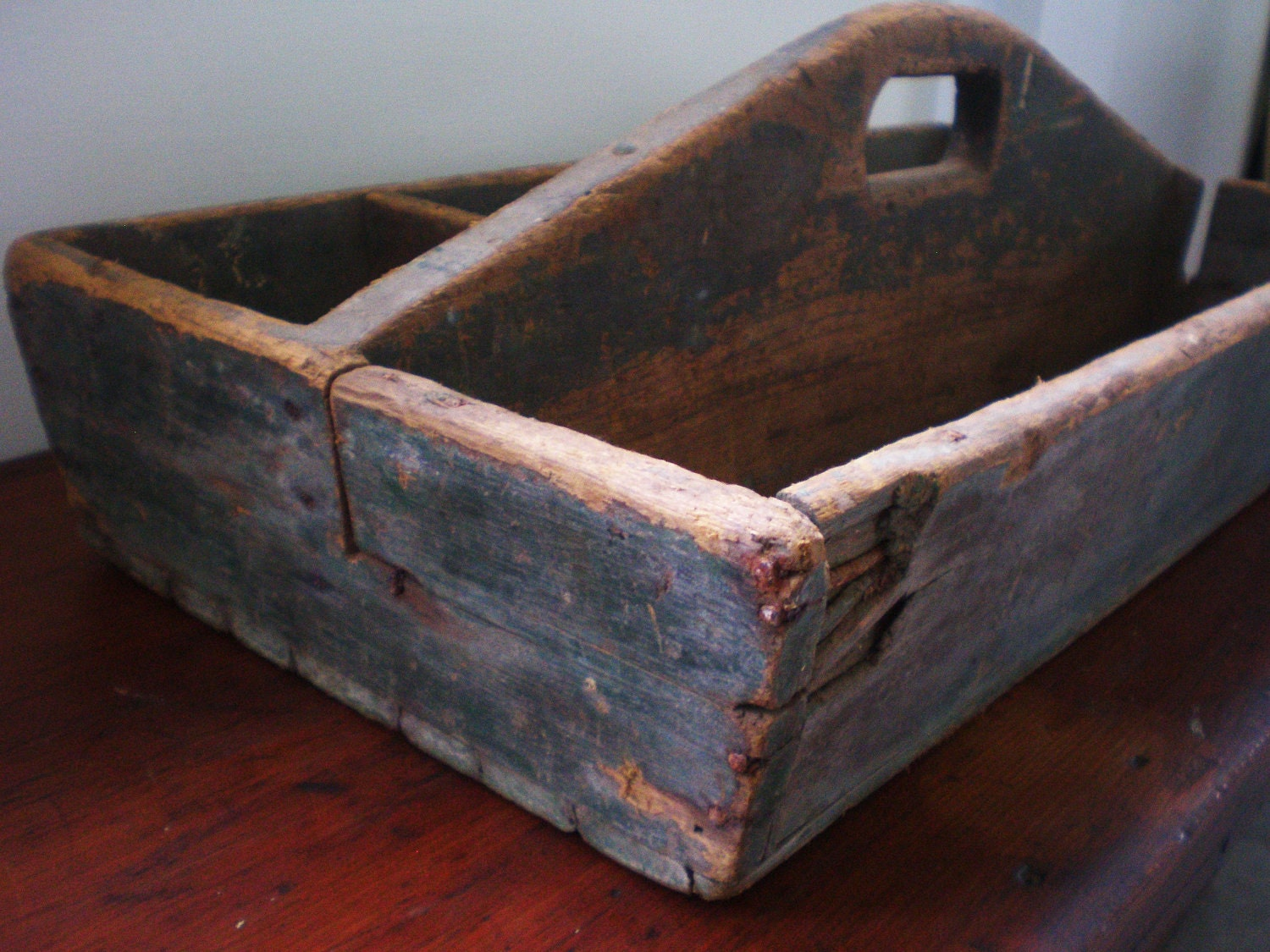 Old Wood Tool Caddy