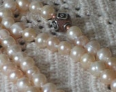 Peach Freshwater Pearls and Copper Necklace 20-101