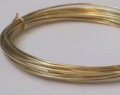 Raw Brass Wire -- 22 gauge   (Qty 10 ft)    65-132