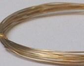 Raw Brass Wire -- 26 gauge   (Qty 10 ft)    65-112