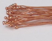 Solid Copper Headpin with Ball   2.5 inch   (Qty 30)  75-1-114