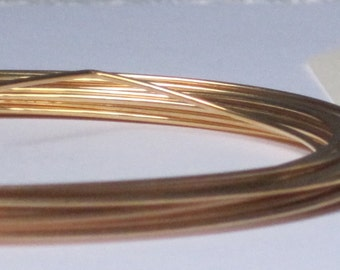 Gold Plated Jewelry Wire -- 18 gauge   (Qty 3 ft)    65-107
