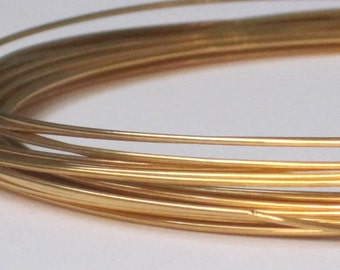 Gold Plated Jewelry Wire -- 20 gauge   (Qty 4 ft)    65-108