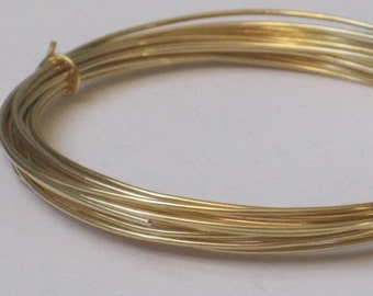 Raw Brass Wire -- 20 gauge   (Qty 10 ft)    65-110
