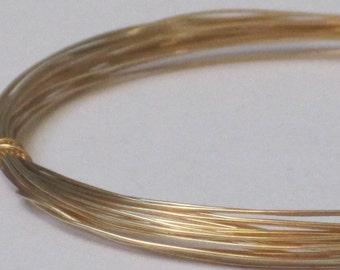 Raw Brass Wire -- 28 gauge   (Qty 20 ft)    65-133