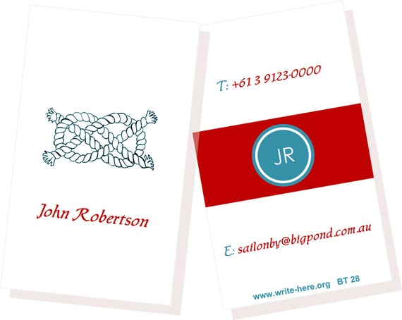 Personalized Luggage Tags Sailing Nautical Rope Set of 2