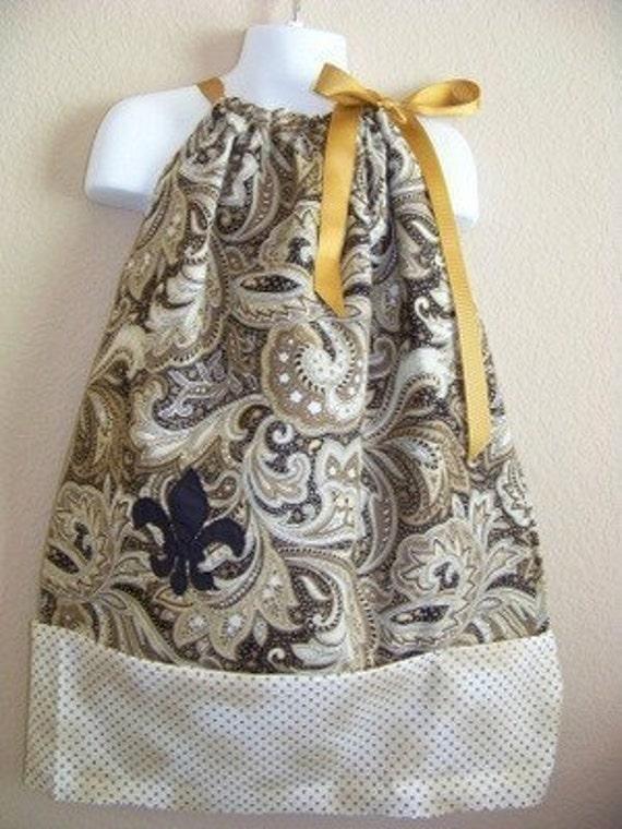 Custom Listing for athomas336 Fleur de Lis Pillowcase Dress