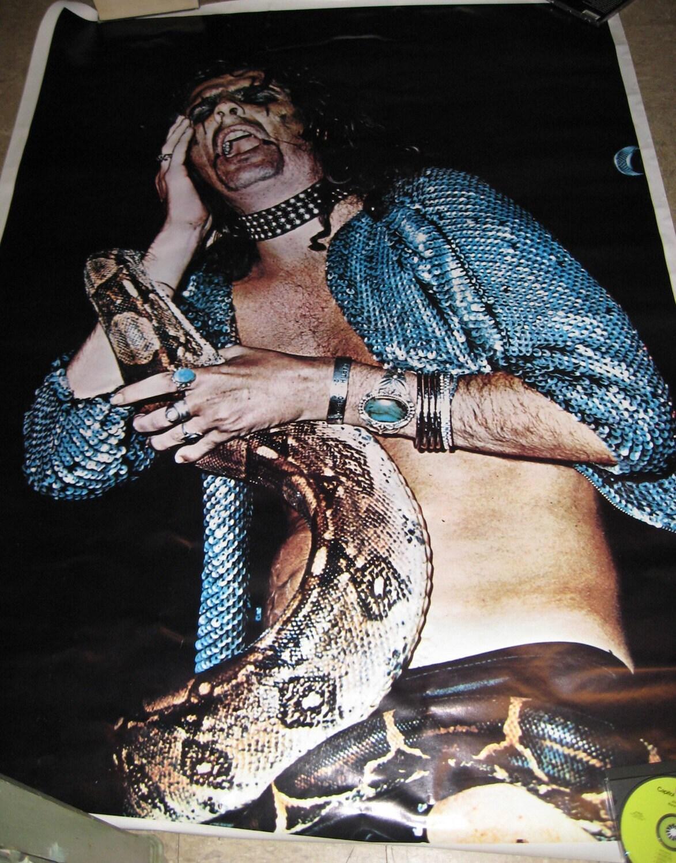 Vintage Alice Cooper Snake Poster Huge-6554