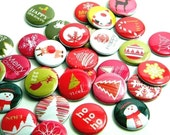Buttons - Red Mod Christmas (set of 20)