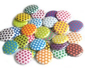 Buttons -  Assorted Polka Dot (set of 20)