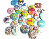 Buttons - Floral Songbird (Set of 20)