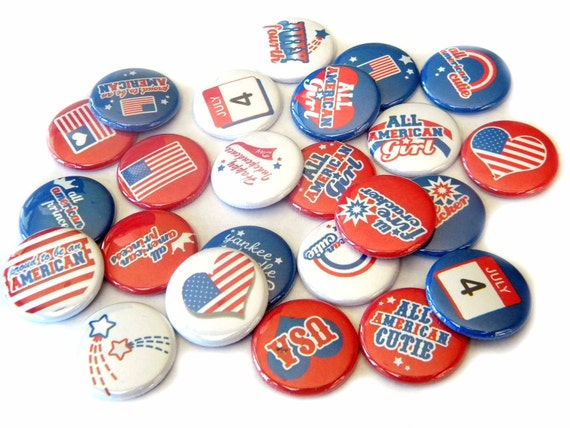 Buttons - Independence Day (Set of 20)