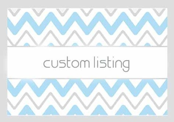 Custom Listing for Tammy