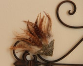 All Natural Rooster Feather Hair Clip
