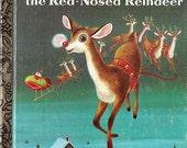 Rudolph Red Nose Reindeer illustrated Little Golden Book Richard SCARRY 1979 twenty fifth printing good vintage illustrated book