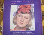 McCalls October 1937 Magazine Dionne Quints original Vintage Ads  Woman Fashion Cooking Stories MAGAZINE Homemaker