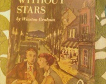 1950 Novel, suspense, French vintage suspense novel NIGHT WITHOUT STARS France Winston Graham english edition france post war, french novel