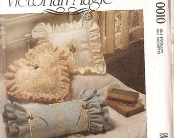sewing pattern pillows McCalls 0010 craft pattern pillow Victorian Magic Pillows Lace Frames Accessories McCalls 0010 romance pillows craft