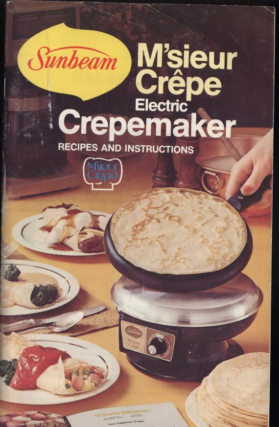 sunbeam crepe maker instructions