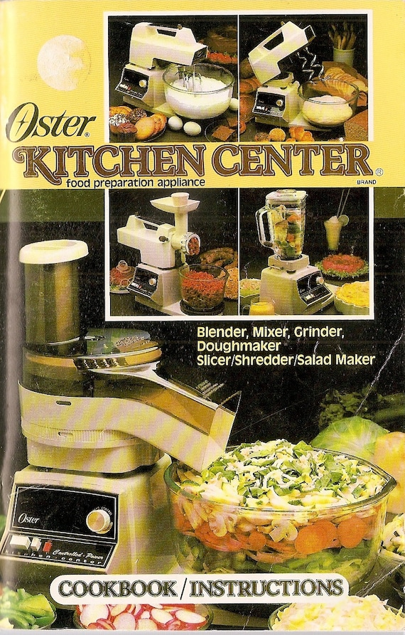 Oster Kitchen Center Recipe Book