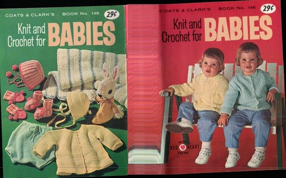 Crochet Knit Babies Coats and Clarks book 146 VINTAGE 1966