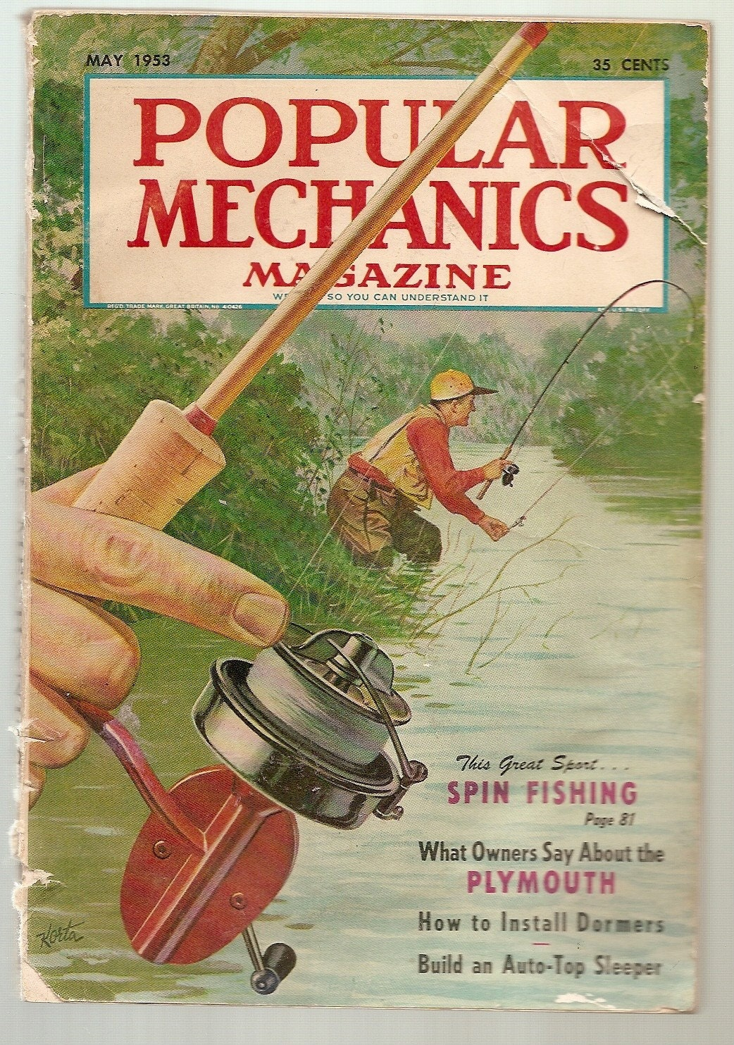 Sale vintage fishing lures popular mechanics by for Vintage fishing tackle