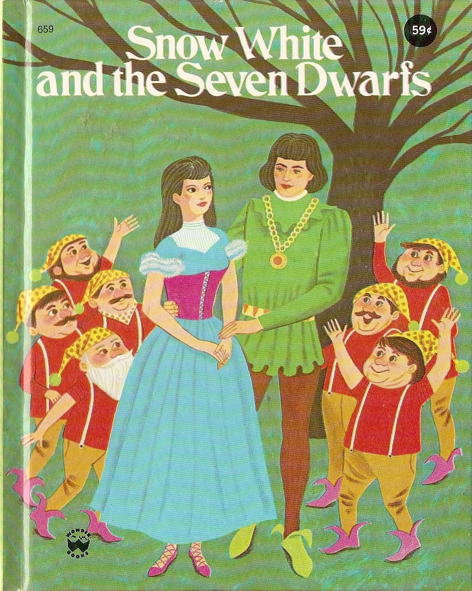Vintage Book Snow White Seven Dwarf Fairy Tale By