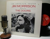 "Jim Morrison (The Doors) Vinyl Record Album ""American Prayer/ Poems, Lyrics and Stories by Jim Morrison"" (1983 Elektra Records)"