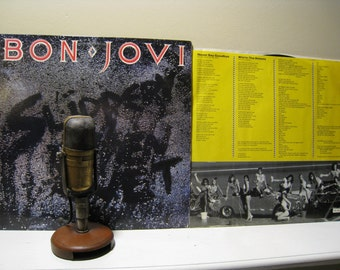 On sale bon jovi vinyl record album 1980s rock pop lp for Slippery when wet tattoo