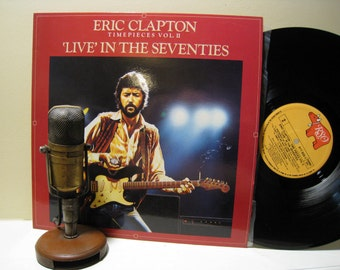 "ON SALE Eric Clapton ""Timepieces Vol.2 / Live in the Seventies"" (1983 Import with ""Knockin on Heaven's Door"") Vintage Vinyl Record LP"