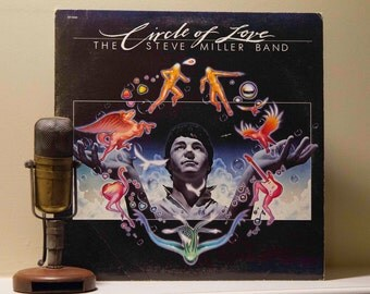 "ON SALE Steve Miller Vinyl Record Album 1980s Classic Rock Pop ""Circle of Love"" (Original 1985 Capitol  with inner sleeve and 18 min. ""Macho"