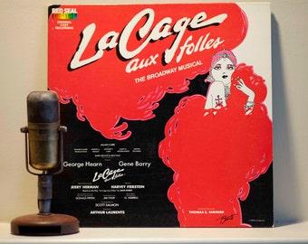 """Broadway Musical Original Cast Recording """"La Cage Aux Folles"""" (1983 RCA Records Gatefold LP - Red Seal Digital Label) Vintage Vinyl"""