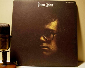 "ON SALE Elton John Vinyl Record Album 1970s British Pop Rock Pomp Diva LP- - ""Elton John"" (1973 Mca re-issue)"