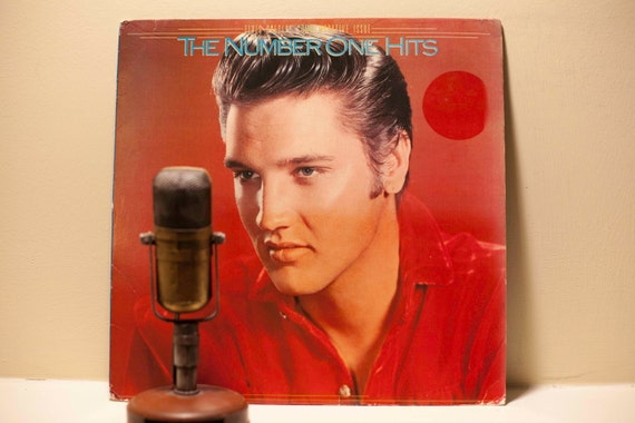 """Elvis Presley - """"The Number One Hits"""" (Rare Special Original 1987 BMG Commemorative Issue LP with """"Heartbreak Hotel"""" & """"Love Me Tender"""")"""