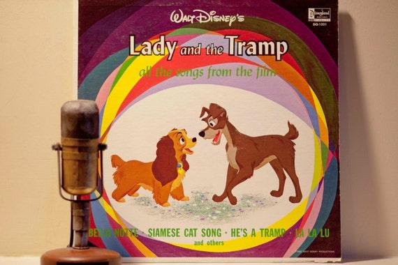 Walt Disney Vinyl Record Album Lady And The By Droptheneedle