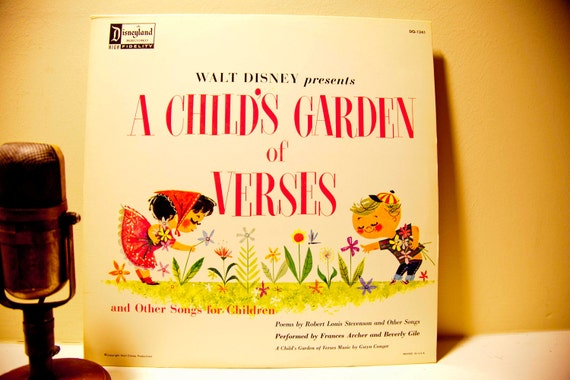 """Walt Disney presents - """"A Child's Garden of Verses: Poems by Robert Louis Stevenson and other Songs"""" (Original 1963 Disneyland Records)"""
