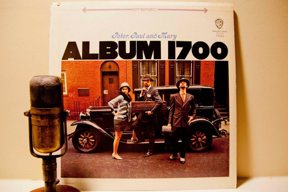 """ON SALE Peter, Paul and Mary - """"Album 1700"""" (1970 Green Label WB Records with """"Leavin' On a Jet Plane"""") - Vintage Vinyl Record"""