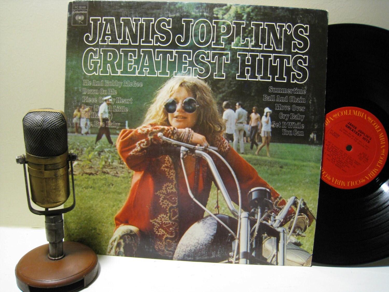 Janis Joplin Vinyl Record Album 1960s Classic By Droptheneedle