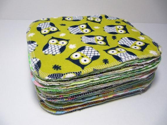 Cloth Wipes - 40 Gender Neutral Mixed Print Set - Eco Friendly