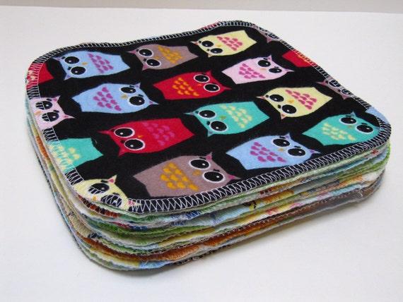 Eco Friendly Cloth Wipes - 20 Gender Neutral Mixed Print Set