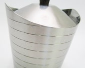 Retro Vintage Lundtofte Stainless Steel Sugar Bowl - Made in Denmark